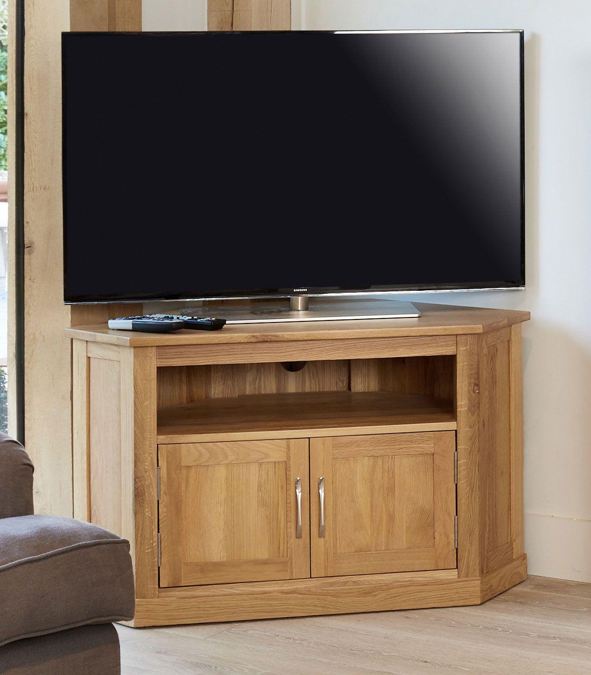 mobel oak corner tv unit